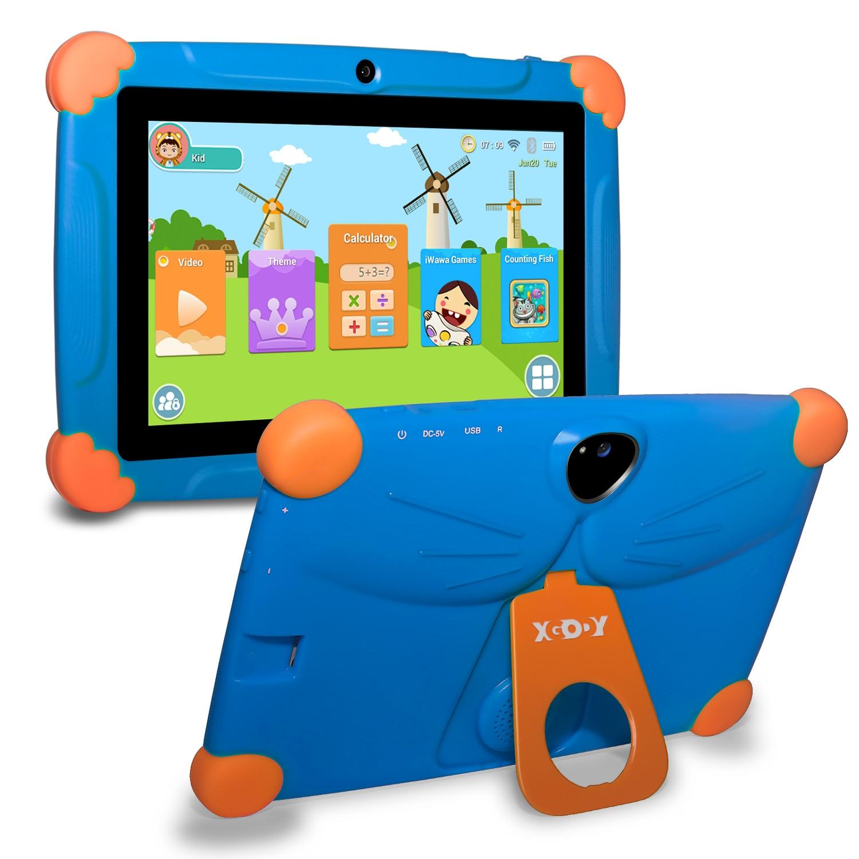 هدية للأطفال كمبيوتر لوحي تعليمي للأطفال شاشة 7 بوصات إصدار أندرويد 8.10 كمبيوتر لوحي محمول 1GB16GB