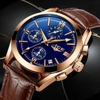 relogio masculino mens watches ligetop brand luxury mens fashion business waterproof quartz watch for men casual leather watch