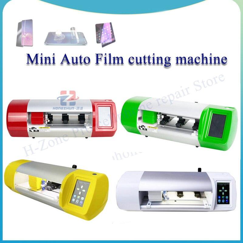 Mini Cortadora automática de película para teléfono móvil, tableta, carcasa trasera de vidrio frontal, herramienta de corte de película protectora para teléfono inteligente