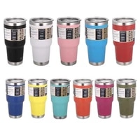 stainless steel 304 car thermos belly cup 30oz coffee beer mug water cup tumbler travel car mug colorful vacuum flask