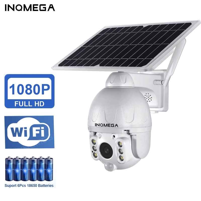 INQMEGA Outdoor Solar Camera 4G SIM / WIFI Wireless Security Detachable Solar Cam Battery CCTV Video Surveillance Smart Monitor