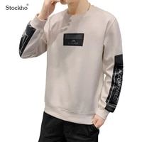 2021 mens sweater sports casual jacket fashion japanese and korean mens cotton long sleeved t shirt round neck bottoming shirt
