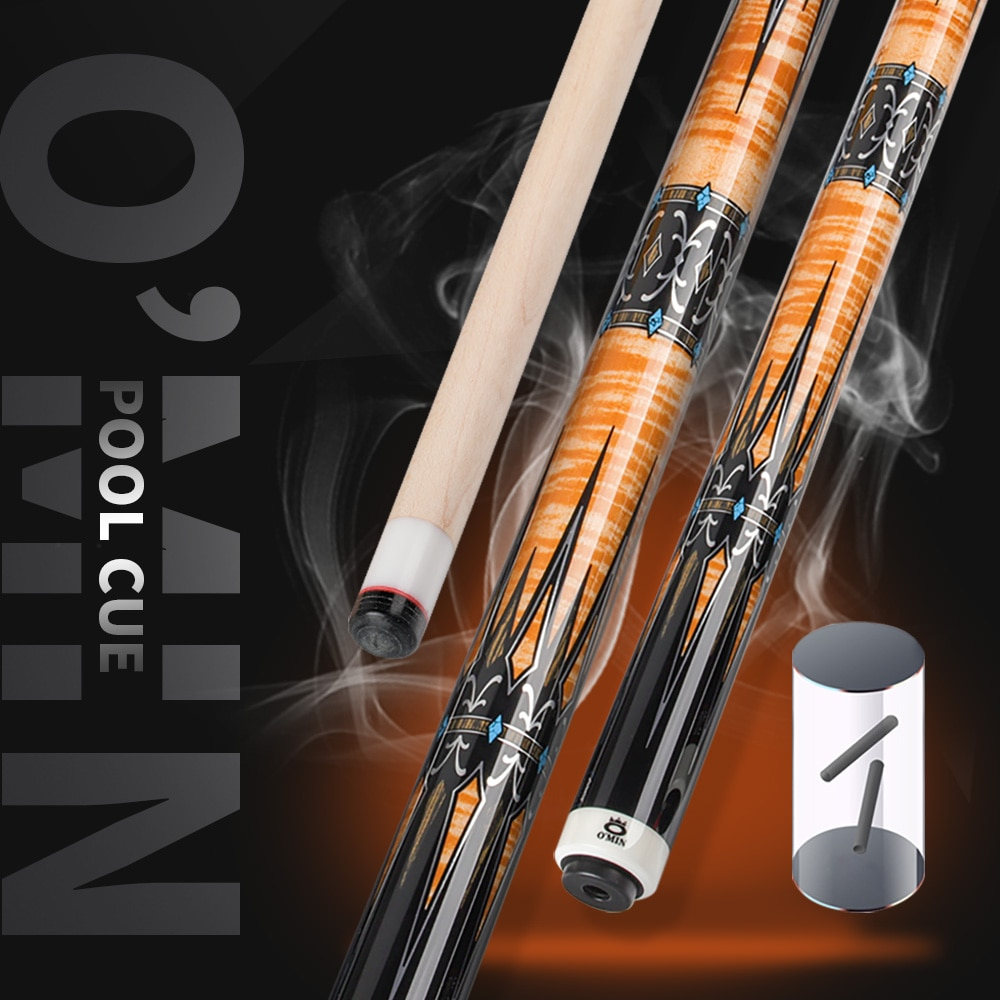 OMIN XF-A Pool Cue Stick12.8mm Tip Leather Grip Carbon Tube Inside Radial Joint Unique Design Adjustable Weight Kit Billiard Cue