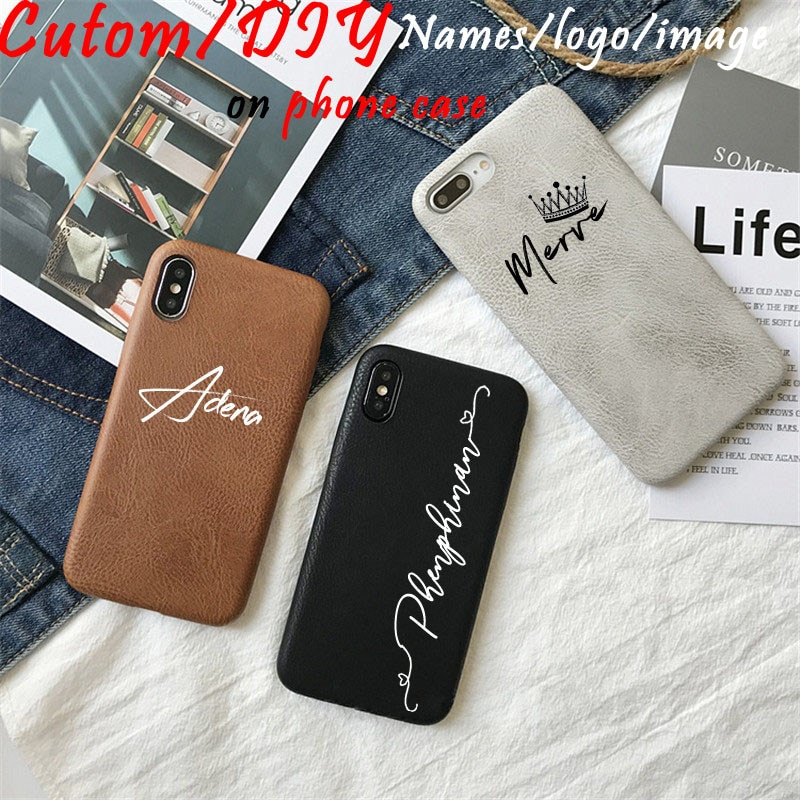 Чехлы для Iphone 11 Pro Max с логотипом на заказ, роскошный мягкий чехол из искусственной кожи, 12 телефонов XSMax XR X 6 7 8Plus в стиле ретро