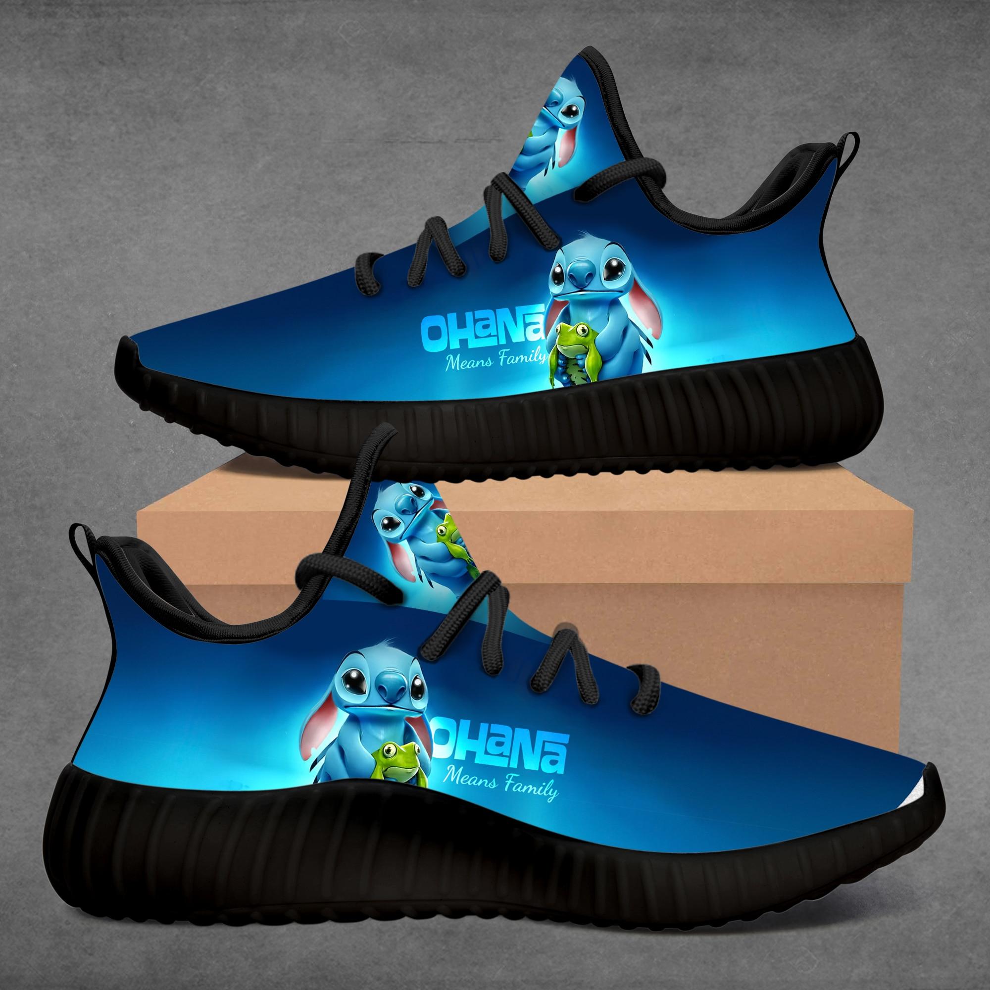Zapatillas de deporte para mujer 2020, zapatillas para correr personalizadas para chica, zapatos-Stitch