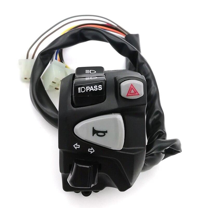 7/8 22mm Motorcycle Handlebar Control Switch Headlight Turn Signal Horn Switch 251271 6253 69 9623641569 turn signal switch indicator headlight fog lights stalk switch for peugeott 106 206 306 citroenn fiatt