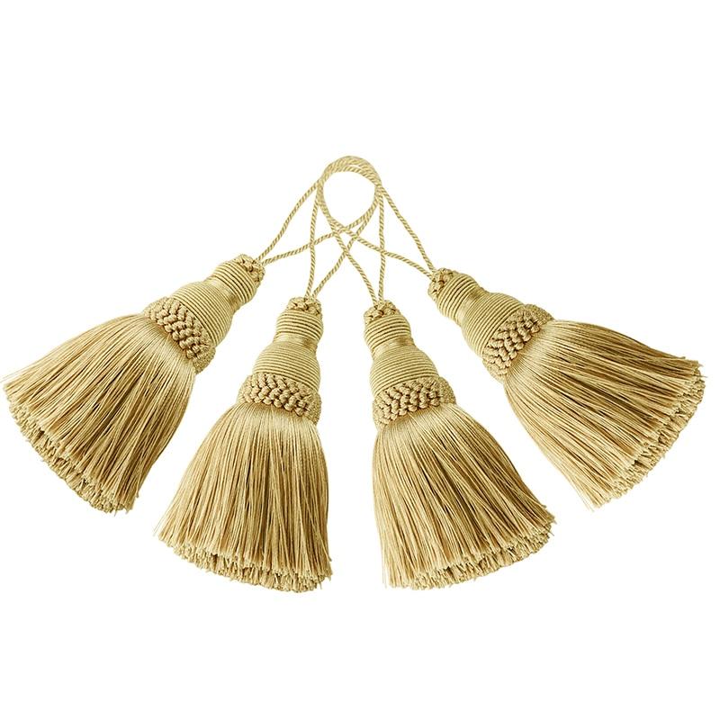 4pcs Home Decor Hanging Rope Silk Tassel Fringe Tassel Trim Decoration Key Tassels for DIY Embellish Curtain Accessories