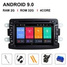 IPS-lecteur dvd DSP voiture Android 9   Automotivo 2 Din pour Dacia/Sandero/Duster/Renault/Captur/Lada/Xray 2/Logan RAM 4G, caméra