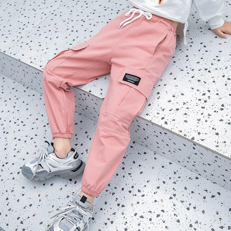 Pantalones Cargo Para Adolescentes De 10 A 12 Anos Pantalon De Cintura Elastica A La Moda Para Primavera Y Otono Deshevyj Magazin Sexresort