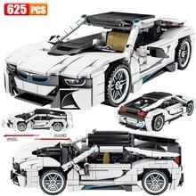 Nouveau 2020 Technic créateur Expert deux portes supercar i8 voiture modèle blocs de construction ensembles briques enfants jouets Compatible classique MOC