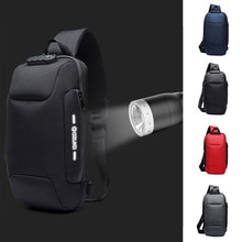 OZUKO الرجال متعددة الوظائف حقيبة ساعي مكافحة سرقة مقاوم للماء السفر حقيبة صدر للرجال موضة الرياضة في الهواء الطلق حقائب ترفيه #45