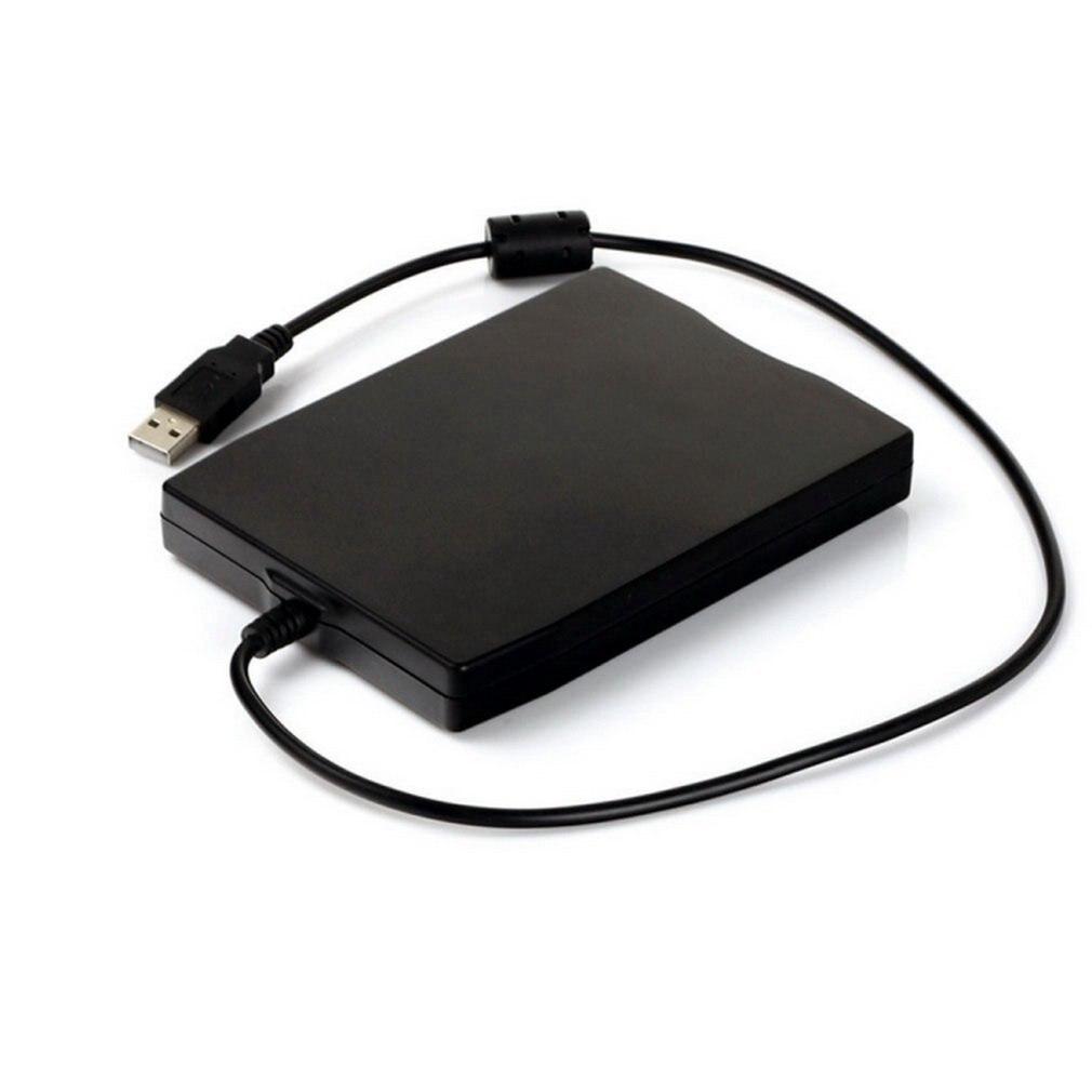 قرص مرن خارجي USB FDD ، 3.5 بوصة ، 1.44 ميجابايت ، واجهة كمبيوتر محمول ، أسود