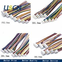 10 pièces 1.0 1.25 1.5 2.0 2.54 SH/JST/ZH/PH/XH 1.0MM 1.25MM 1.5MM 2.0MM 2.54MM connecteur femelle avec fil 2/3/4/5/6/7/8/10Pin