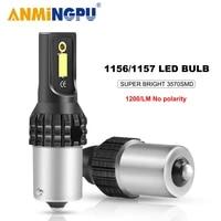 anmingpu 1x signal lamp ba15s led canbus p21w bau15s py21w 1156 led p215w 1157 bay15d bulb 3570smd reversing turn signal lights