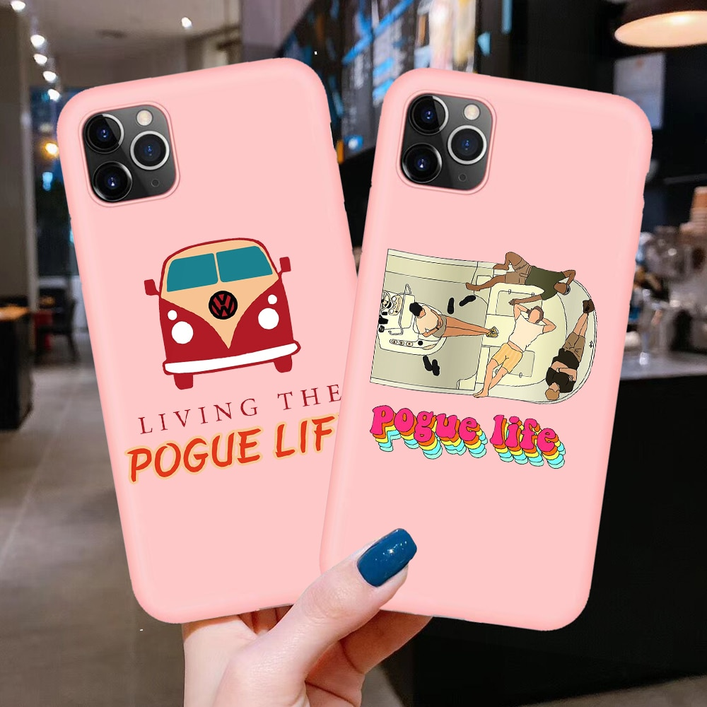 Funda para iPhone 11 Pro X XR XS Max 8 7 6 6S Plus 5S SE 2020, con Pogue Life