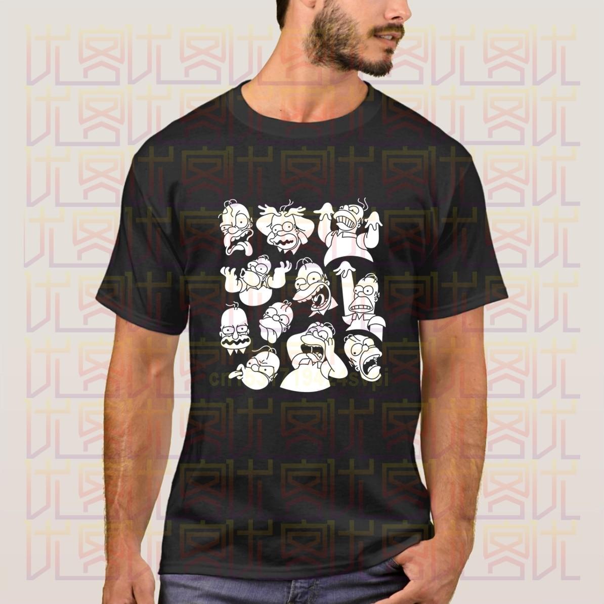 Camiseta Simpson Face sin Tv And No Beer Make Homer Make, novedad de verano 2020, camisetas populares de manga corta para hombre