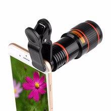 Téléobjectif monoculaire télescope téléphone universel optique 8x 12x Zoom téléphone caméra télescope lentille avec Clip pour Smartphone