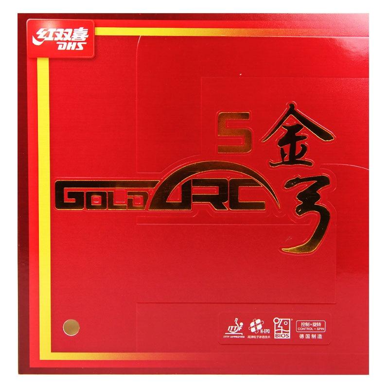 Резина для настольного тенниса DHS GoldArc 5, немецкая резина для пинг-понга с губкой для настольного тенниса