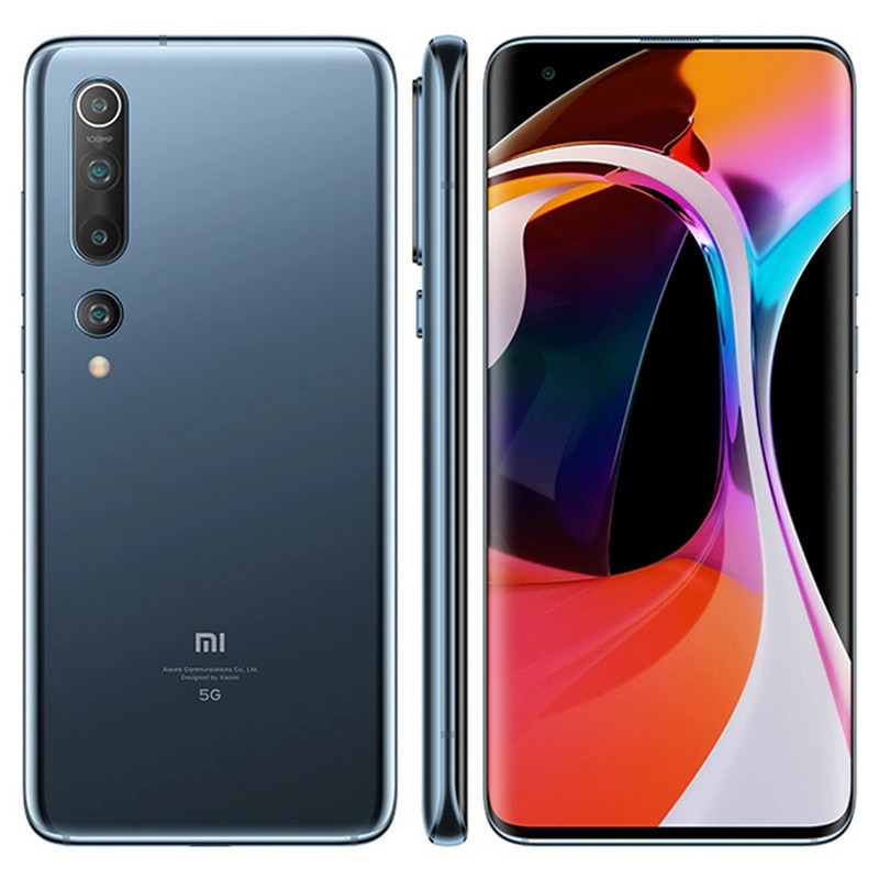 Xiaomi Mi 10 5G Smartphone Global Version 8GB+256GB Snapdragon 865 X55 Octa Core 108MP Pixel 4780mAh With NFC 90HZ Curved Screen enlarge