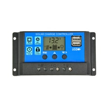 Sunyima controlador de carga solar 12 v 24 v 50a 40a 30a 20a controlador automático do painel solar universal usb 5 v carregamento display lcd
