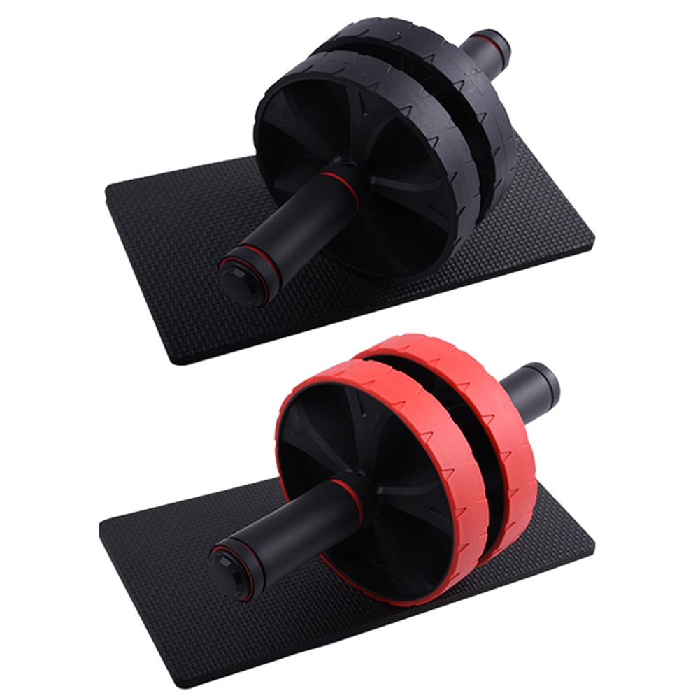 No Noise Abdominal Wheel Fashion Keep Fit Wheels Ab Roller with Mat for Arm Waist Legs Exercise Gym Fitness Equipment