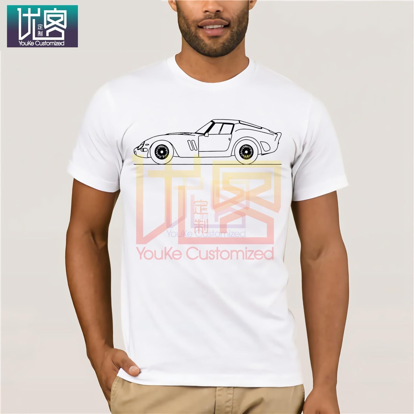 250 novo verão de 100% t camisa do carro t 2020 gto mínimo linha arte camiseta masculina moda algodão roupas mais novo