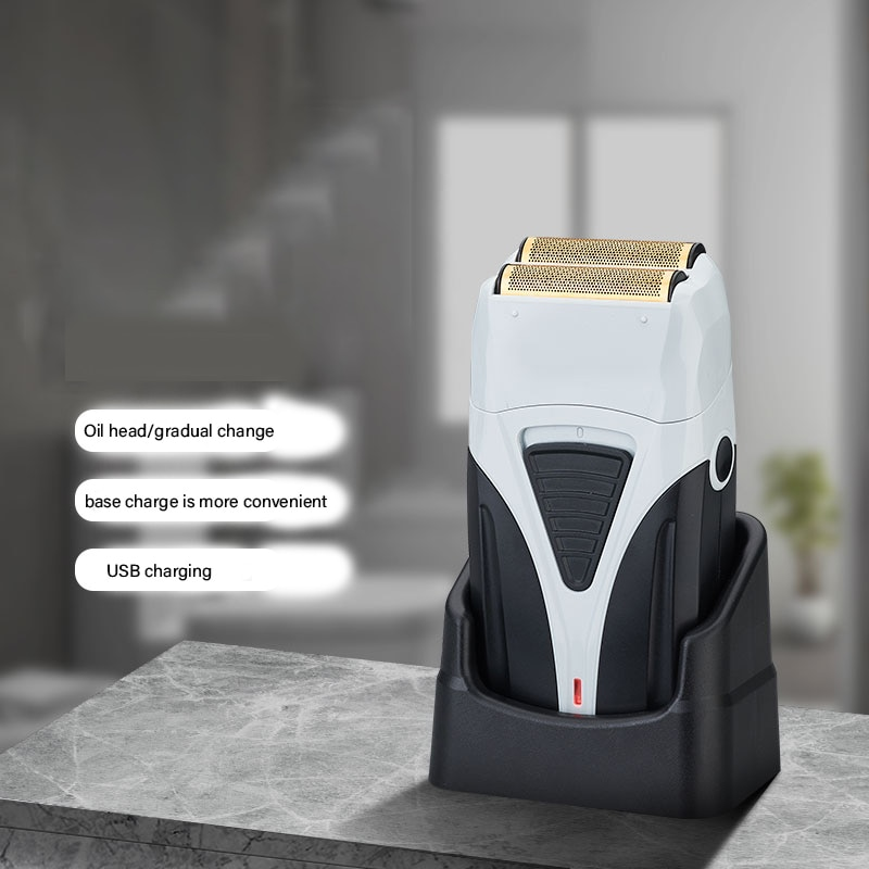 Reciprocating Trimmer Razor Hair Clipper Electric Shaver Machine Style Tool Cutting Beard for Men Twin Blade 4D Face enlarge