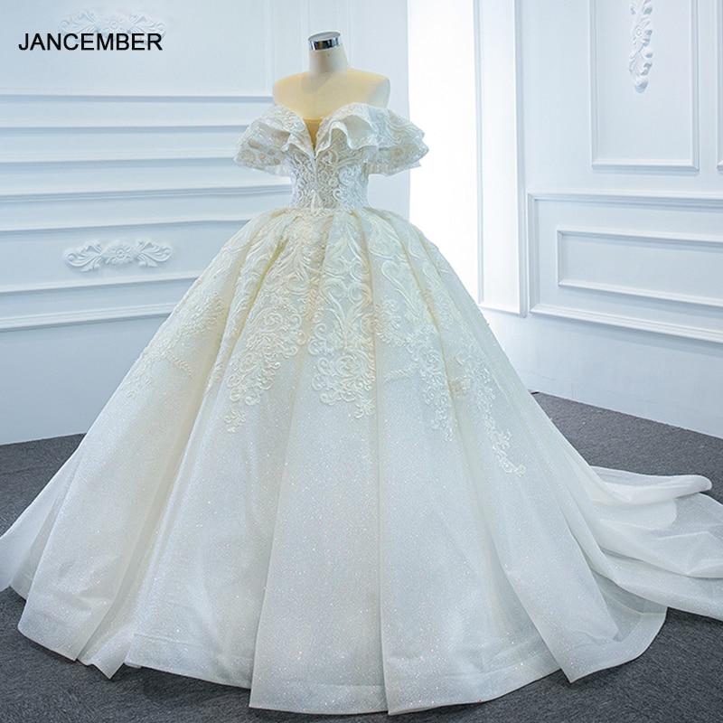 RSM67162 الأبيض أنيقة زين طباعة نمط فستان الزفاف 2021 الزفاف هدب الخامس الرقبة فستان ماكسي رسمي