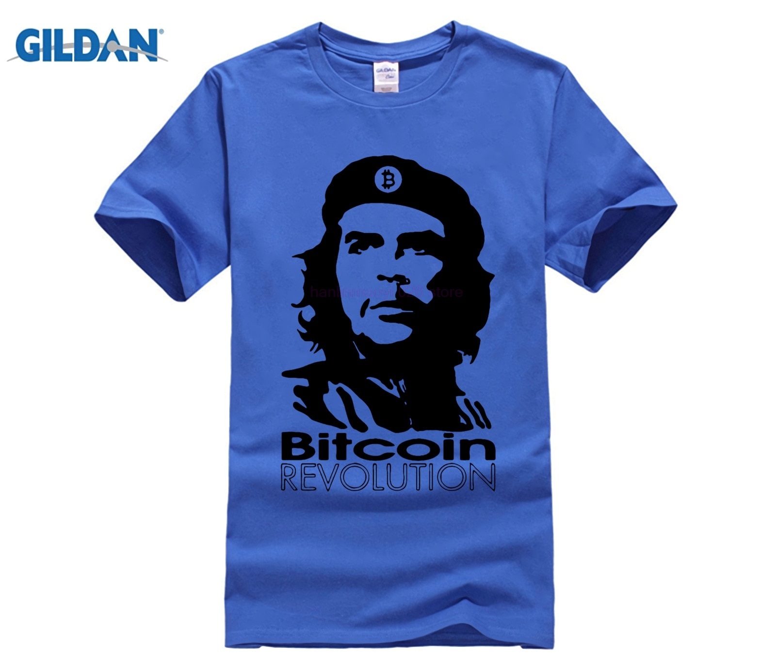Diseño divertido Bitcoin revolución Ernesto Guevara camiseta Che Guevara Cool camisetas hombres 100% algodón d Tshirs 2019