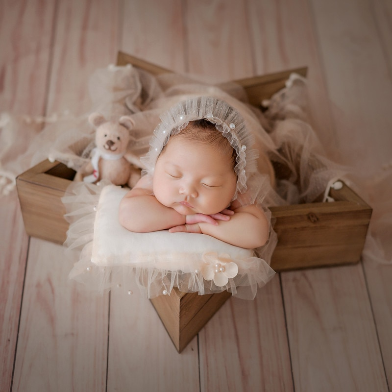 Newborn Photography Props Basket Five-Pointed Star Photography Props Bed Studio Mini Photography Furniture Baby Photo Accessory