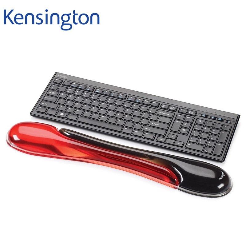 Kensington-مسند للمعصم K62398AM للوحة مفاتيح ألعاب ميكانيكية ، أصلي ، حزمة بيع بالتجزئة باللون الأحمر والأسود