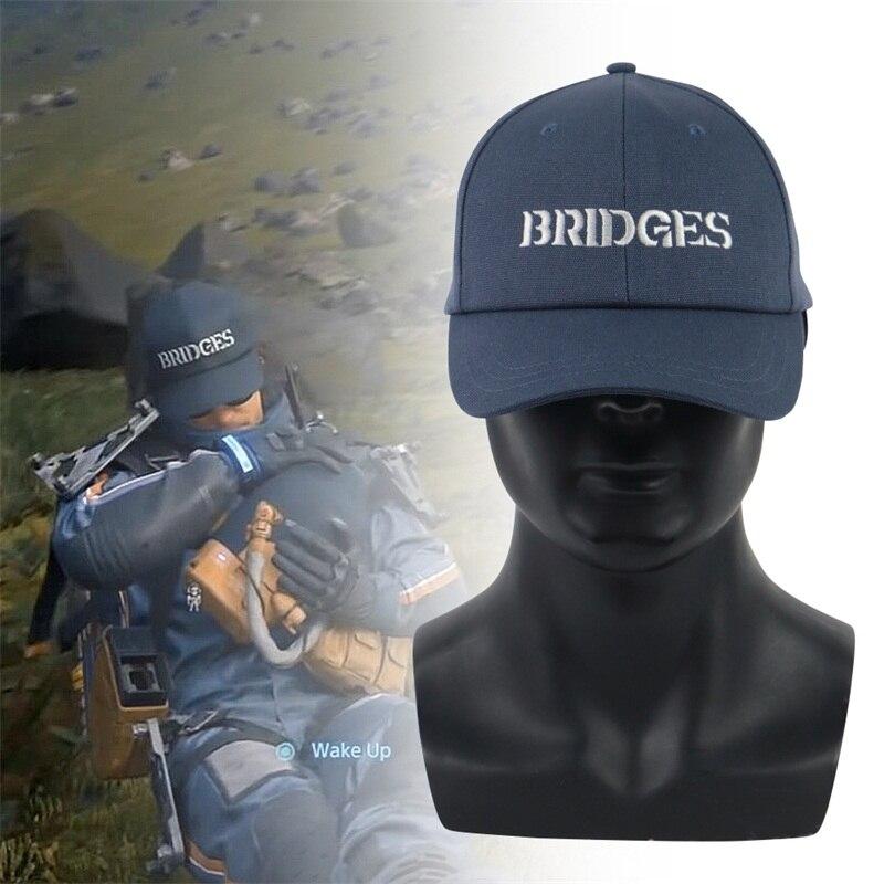 Игра Death Stranding Косплей шляпа Сэм синие мосты вышивка бейсболка Регулируемая