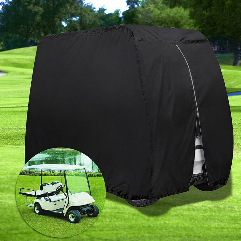 עמיד למים גולף עגלת כיסוי 4 נוסע Dustproof אחסון עבור EZ ללכת מועדון ימאהה שחור