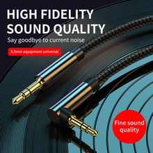 Kebiss AUX Cable Jack 3.5mm Audio Cable 3.5 mm Jack Speaker Cable for JBL Headphones Car Xiaomi redm