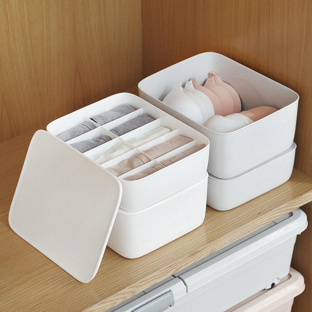 Caja de almacenamiento de ropa interior con rejilla de 1/10/15, caja de almacenamiento de plástico para dormitorio del hogar, cajón de armario de plástico, organizador para sujetadores, calcetines y maquillaje