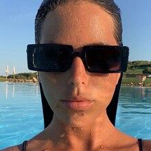 MIZHO 2021 New Fashion Women Brand Sunglasses Vintage Cool Retro Dots Design Narrow Sunglasses Recta