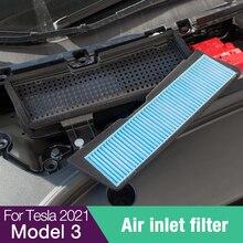 Tesla Model 3 2021 Melt-Blown Air Filter For Car Air Flow Vent Cover Trim Auto Accessories Anti-Bloc