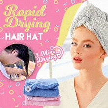 Girl's Hair Drying Hat Super Absorption Turban Hair Dry Cap Fast Drying Hair Towel Bath Hat Microfib