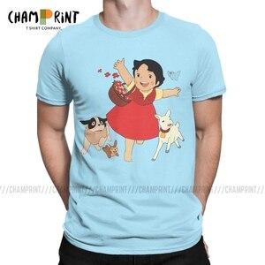Heidi The Girl of The Alps футболка, мужская повседневная футболка, круглый воротник, козья шерсть, аниме, футболка с коротким рукавом, одежда, подарок н...