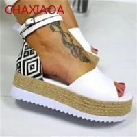 chaxiaoa 2021 women summer wedges sandals open toe ankle strap ladies platform shoes casual high heels female gladiator sandals