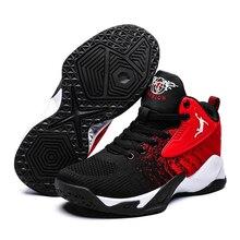 Nouvelle marque chaussures de basket-ball respirant maille amorti haut haut Sport hommes Jordan chaussures unisexe anti-dérapant amoureux chaussures