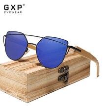 GXP Cat Eye Bamboo Sunglasses Women Fashion Elegant Ladies UV400 Sun Glasses Female Vintage Shades W