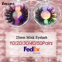 25mm Lashes Mink Eyelashes False Bulk 10/20/30 Pairs Wholesale Makeup Dramatic Lash Boxes Packaging Cases Vendor 3d Mink Lashes