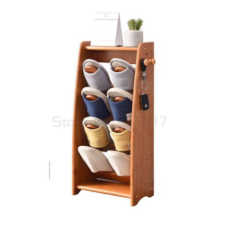 خشبي حديث بسيط شبشب رف خشب متين متعدد الطبقات حذاء تخزين حامل المنزلية الحمام وقاعة خزانة خذاء قابل للنقل