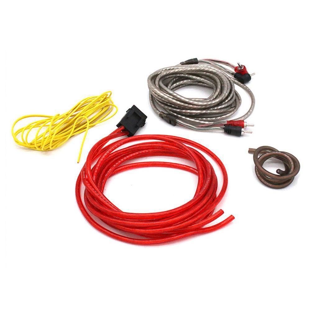 Kit de cableado de Cable de altavoz de graves para coche 10GA...