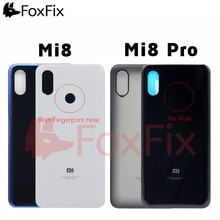 Back Glass Cover For Xiaomi Mi 8 Pro Rear Battery Cover Glass Mi 8 Back Panel Window Door Case For X