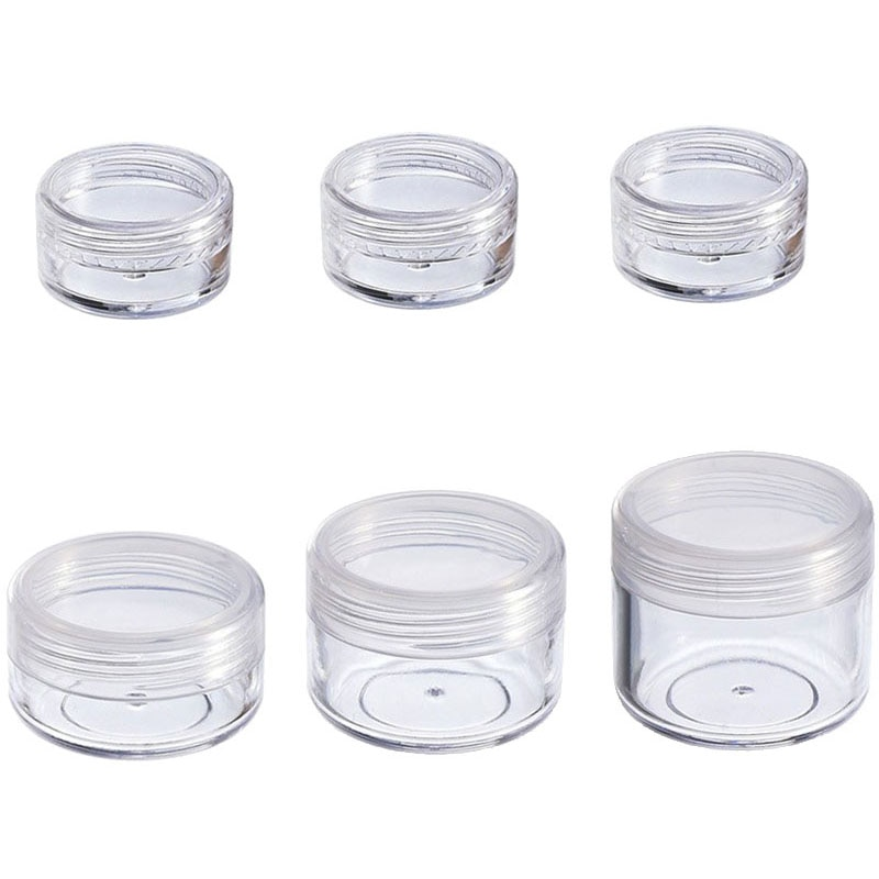 10Pcs Cosmetic Jar 2/3/5/10/15/20g Small Empty Cosmetic Refillable Bottles Plastic Eyeshadow Makeup