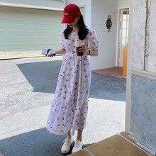 CMAZ 2021 Fashion Summer Maxi Dress Women's Printed Sundress Casual Short Sleeve Vestidos Female Hig