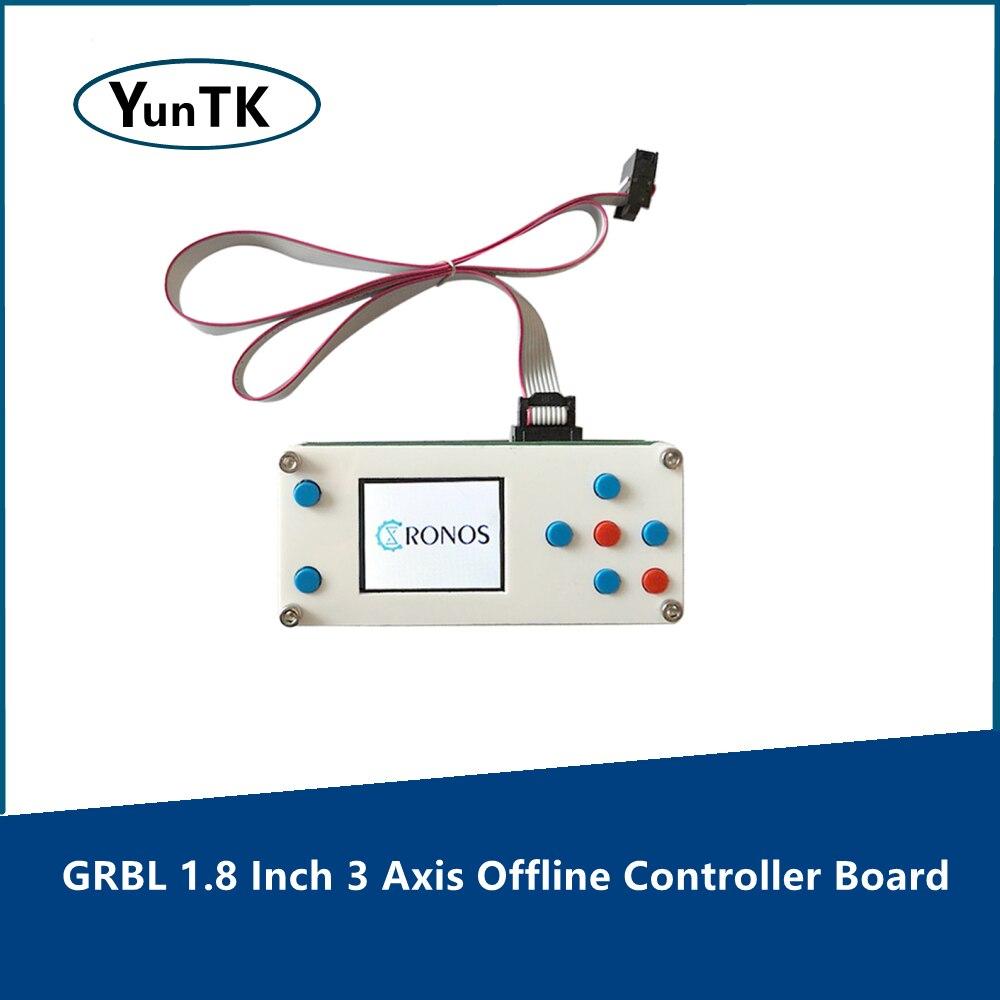 3-осевой Автономный контроллер GRBL 1,8 дюйма, автономный контроллер с ЧПУ для фрезерного станка, лазерного гравировального станка 1610/2418/3018