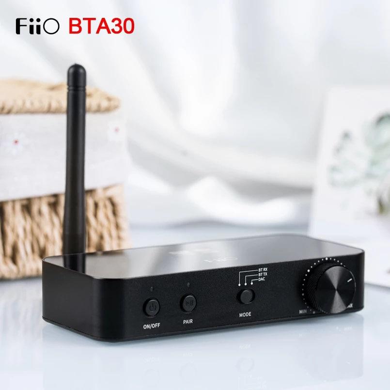 FiiO BTA30 HiFi سماعة لاسلكية تعمل بالبلوتوث 5.0 LDAC طويلة المدى 30 متر جهاز ريسيفر استقبال وإرسال للكمبيوتر/التلفزيون/مكبر الصوت/سماعة الرأس